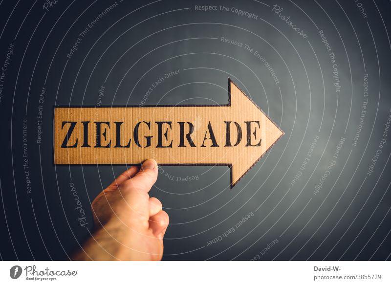 Zielgerade Pfeil gibt die Richtung an zielgerade Erfolg Zukunft Orientierung richtungweisend Karriere Zielort motivation Wege & Pfade