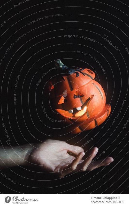Schwimmender Halloween-Kürbis orange fallen Herbst saisonbedingt Saison Oktober Dekoration & Verzierung fliegend Levitation Wagenheber o Laterne