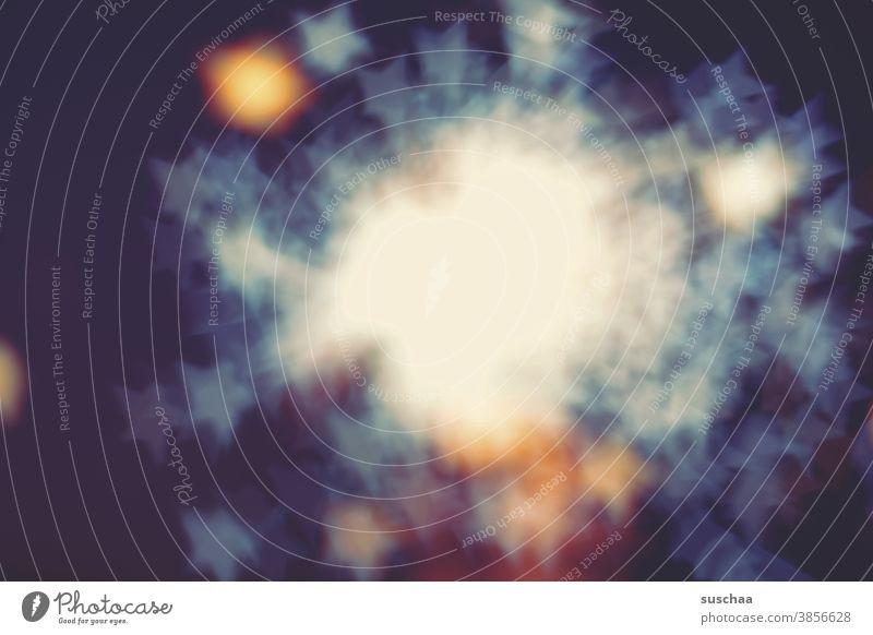 sternenexplosion Sterne Sternenexplosion unscharf weihnachtlich Licht Schatten Bokeh Experiment abstrakt leutend Silvester Weihnachten Neujahr