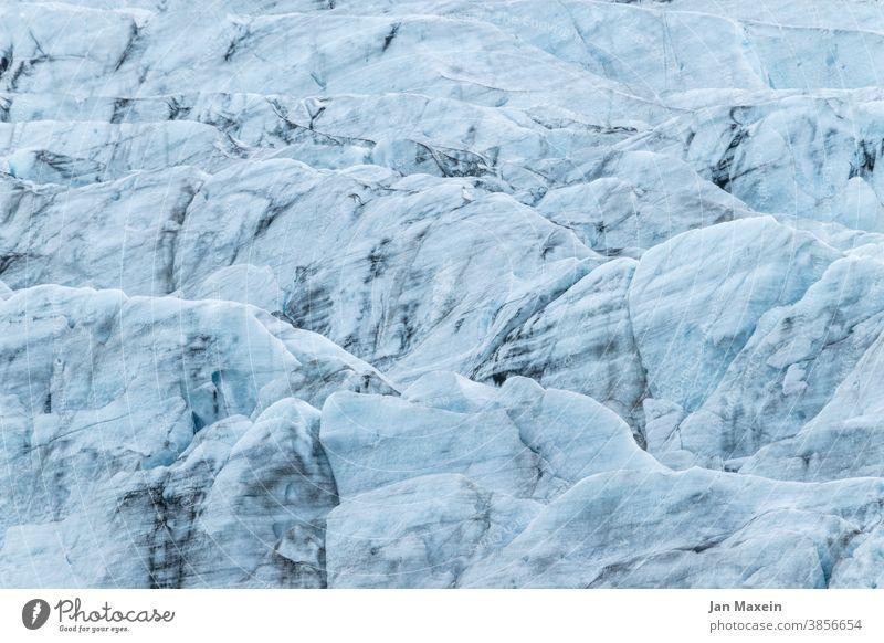 Eis von Gletscher Gletschereis Gletscherschmelze Gletscherspalte Gletscherzunge Gletschersee Gletscher Vatnajökull Gletscherwanderung gletscherwasser