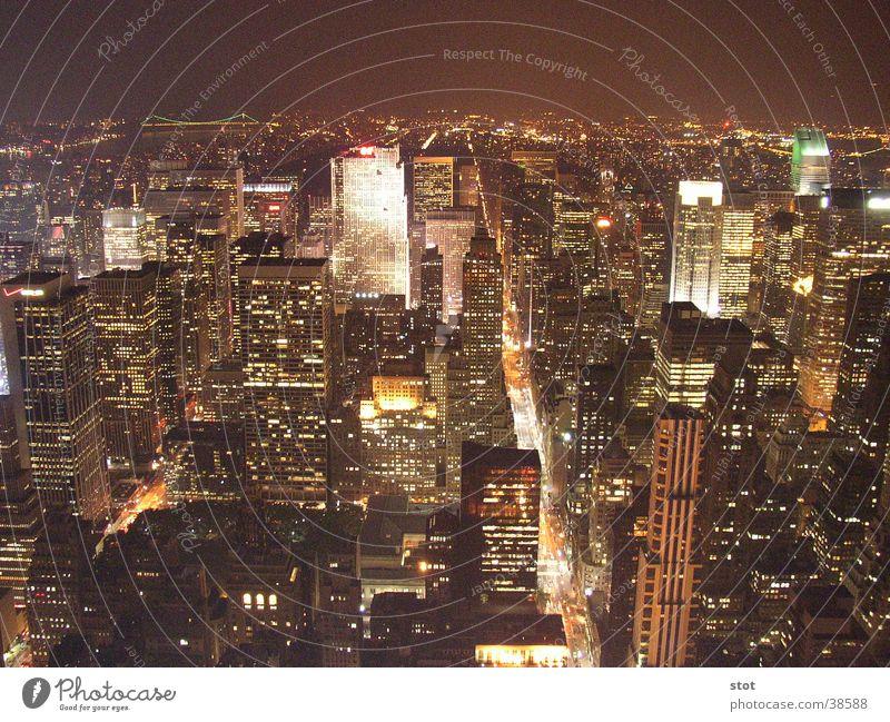 New York bei Nacht Nacht Haus Straße Hochhaus New York City Broadway Empire State Building
