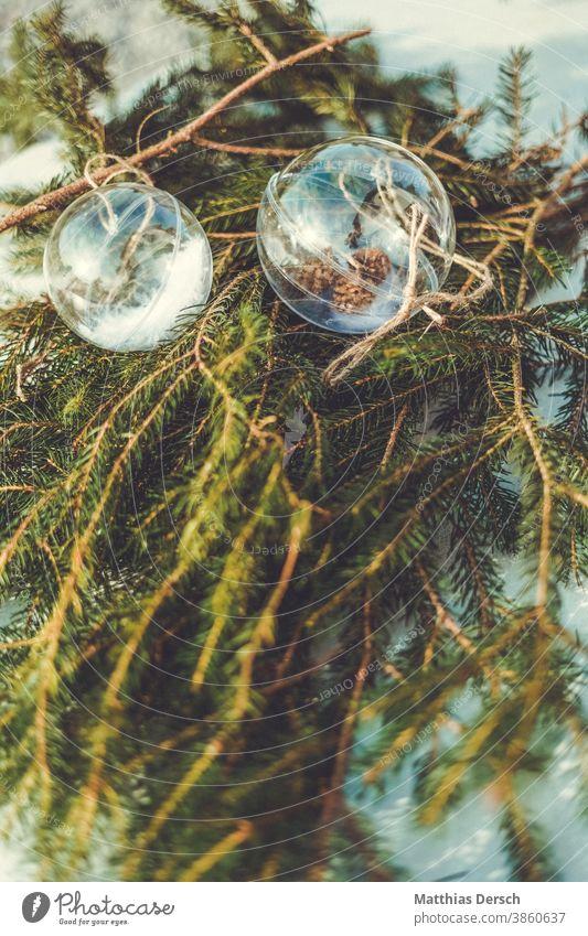 Weihnachtsdekoration Weihnachten & Advent Dekoration & Verzierung dekorieren Winter Christbaumkugel Tannenzweig selbstgemacht