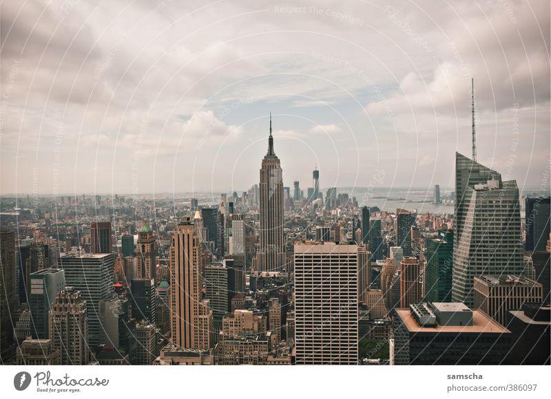 View from the top Ferien & Urlaub & Reisen Tourismus Abenteuer Ferne Freiheit Sightseeing Städtereise Stadt Stadtzentrum Haus Hochhaus hoch New York City