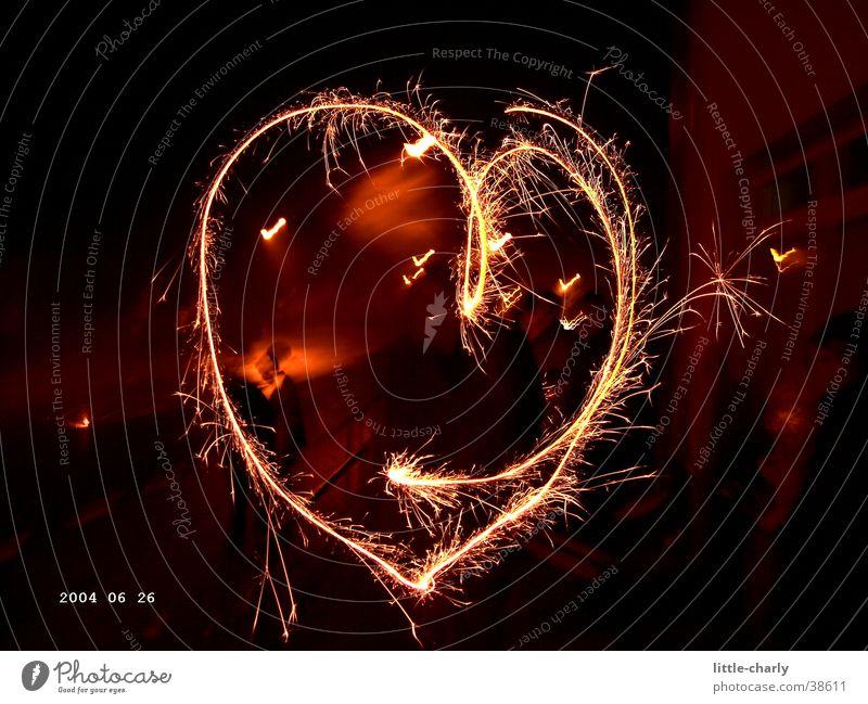 flammendes Herz Herz Silvester u. Neujahr Wunderkerze