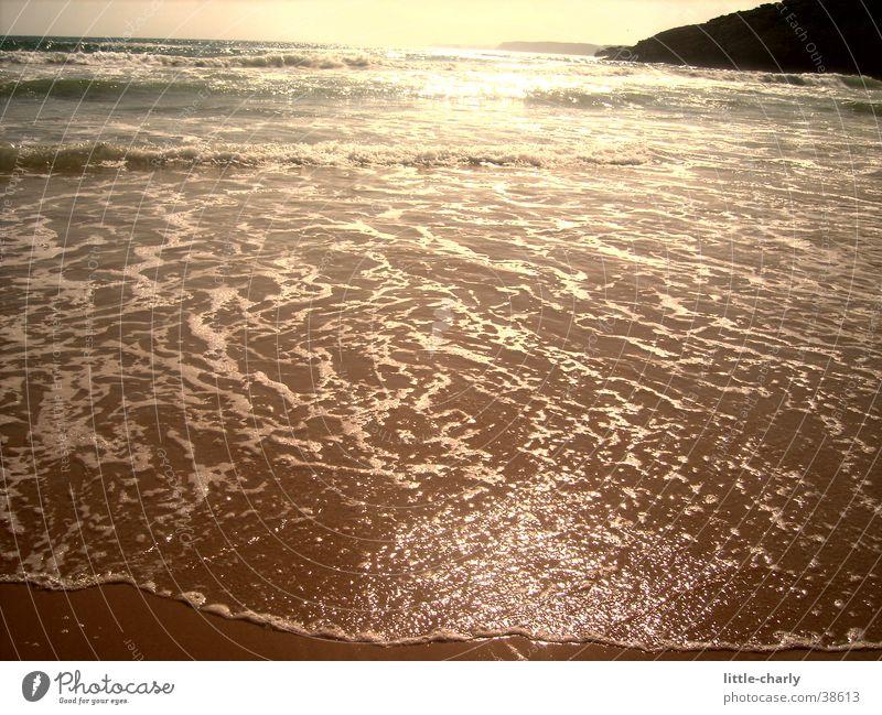 Wasserschimmern Sonne glänzend Atlantik
