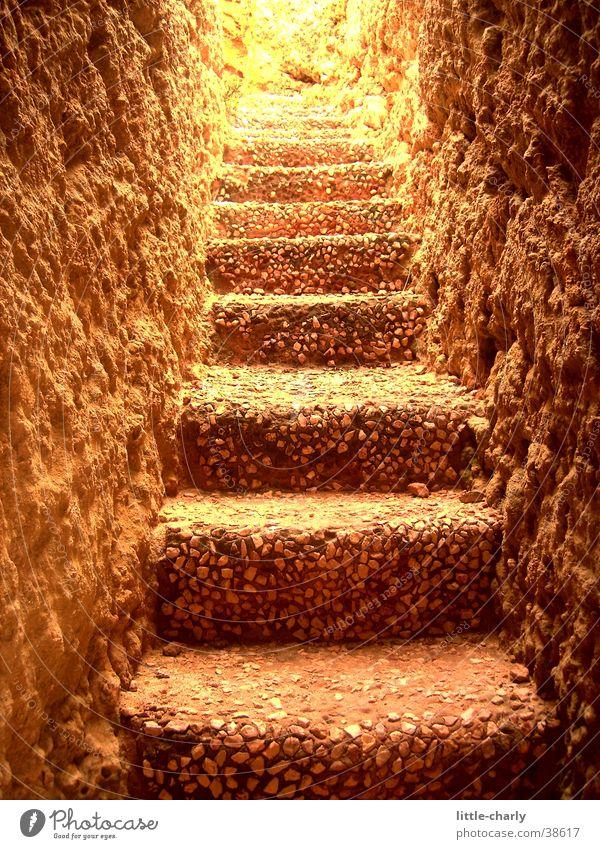 Steintreppe Tunnel Licht Treppe Erde