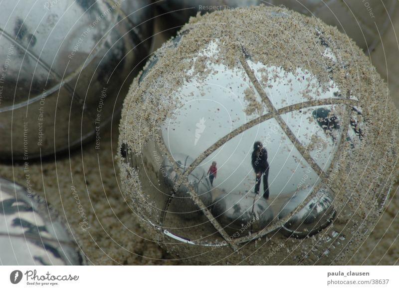 Boule Metallkugel Niederlande Strand Zeitvertreib Reflexion & Spiegelung Kugel
