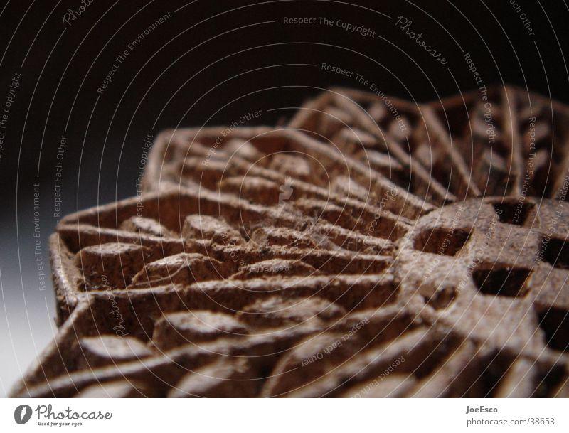 holz stempel 02 Handwerk Holz schwarz Perspektive Holzmehl Ähren Dinge Stempel Korn handarbeit heimwerken Strukturen & Formen
