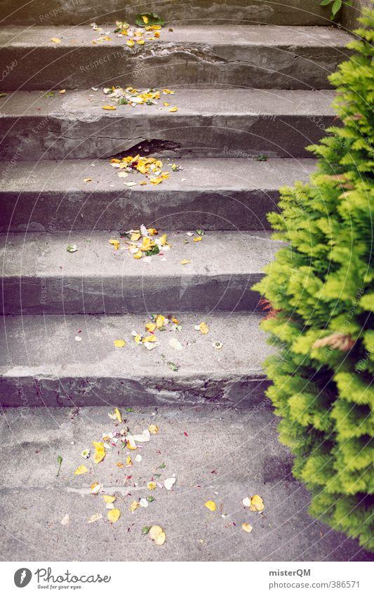 Proof of Happiness I Kunst ästhetisch Zufriedenheit Hochzeit Hochzeitszeremonie Hochzeitsgesellschaft Treppe Rosenblätter Dekoration & Verzierung Farbfoto