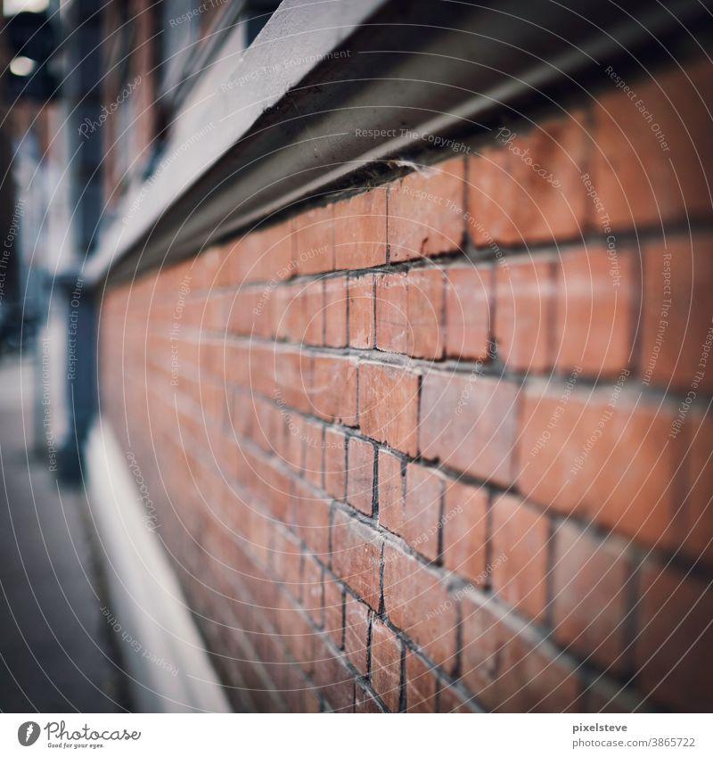 Gemauerte Hauswand Mauer Mauerstein mauerwerk Mauern Stein Steinmauer Häuserzeile Backsteinhaus Häuserwand Backsteinmauer Backsteinwand Backsteinhäuser Altbau