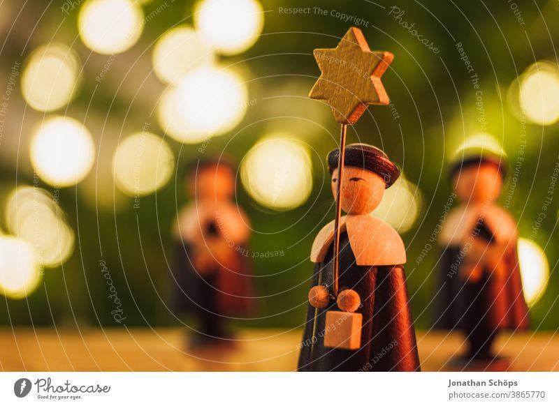 Weihnachtssternsänger Holzfiguren Nahaufnahme hell Christentum Weihnachten Weihnachten & Advent Dekoration & Verzierung Erzgebirge Glaube heimwärts Hoffnung