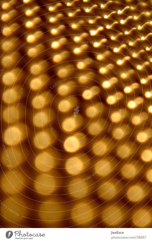 golden dots Stil Metall Perspektive Punkt Dinge Verlauf