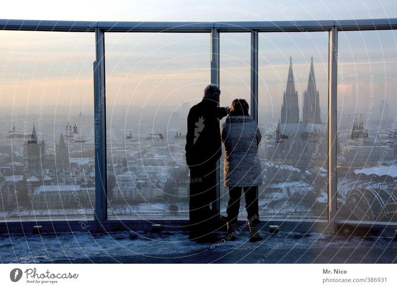 sightseeing Mensch Ferien & Urlaub & Reisen Stadt Winter Ferne Umwelt Fenster Tourismus Lifestyle Hochhaus Ausflug Aussicht Bauwerk Höhenangst Skyline