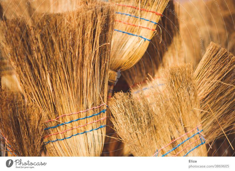 Strohbesen Besen Kehren Reisstrohbesen Reinigen Borsten Sauberkeit
