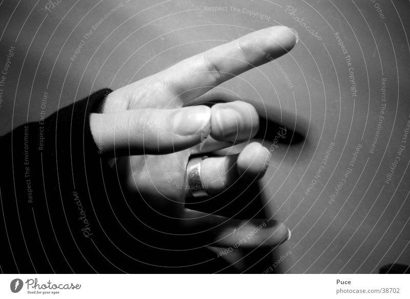 Hand Finger Fingernagel Daumen Frau