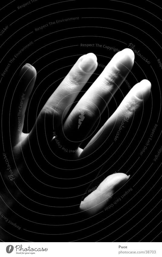 Touch2 Hand Finger Fingernagel Licht Frau Schatten