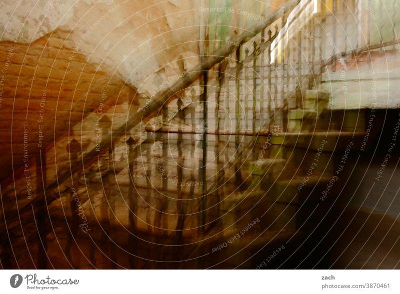 es hat Zoom gemacht Gebäude Fassade Linie Linien Strukturen & Formen Wand Architektur Vergangenheit kaputt alt Ruine Innenaufnahme Haus Zerstörung
