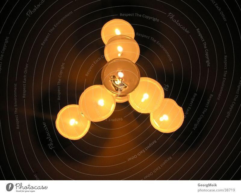 star Kerze 7 Dreieck Licht Dinge Lampe drei richtungen
