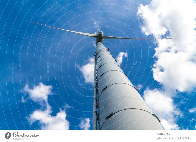 Windmühle zur Erzeugung elektrischer Energie Turbine regenerativ Detailaufnahme Erzeuger alternativ Elektrizität Technik & Technologie Klinge Bauernhof