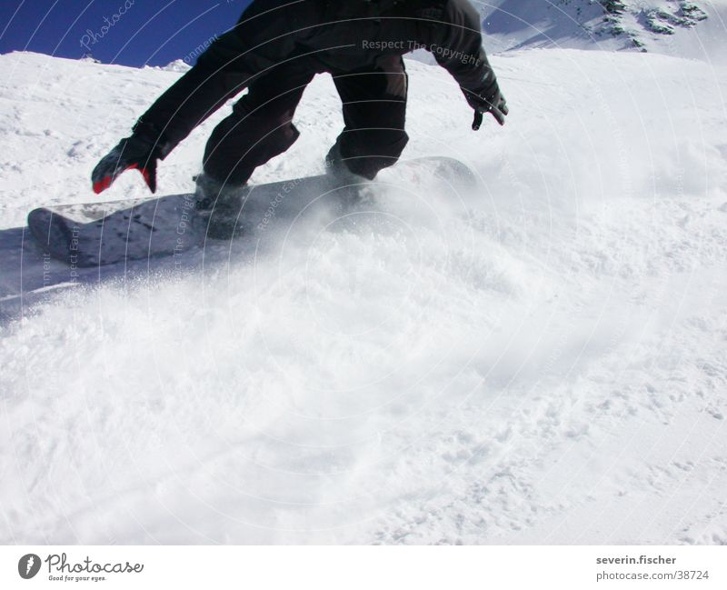 Einfach cruisen... Winter Schweiz Kanton Wallis Sport Boardercross Saas Fee Schnee
