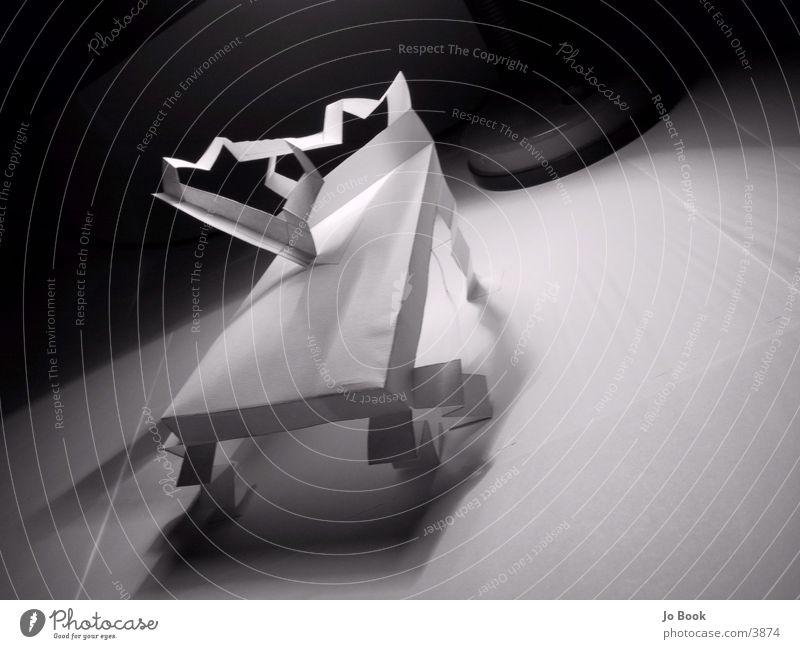 Papier Stuhl #3 weiß Kunst Papier Stuhl Schatten Fototechnik