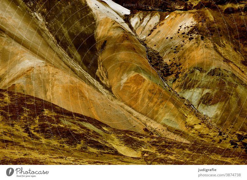 Island, bunte Berge aus Ryolithgestein Natur Berge u. Gebirge gewaltig beeindruckend Landschaft Außenaufnahme Farbfoto Hügel wild Urelemente natürlich Tag