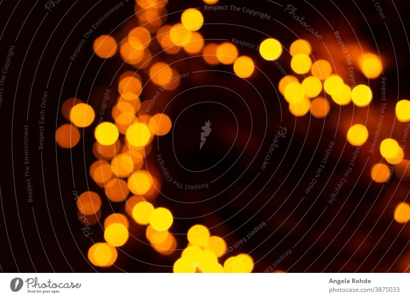 Viele bunte, verschwommene Kreise aus Licht Hintergrund glühend abstrakt Unschärfe gelb Farbe kreisen glänzend Bokeh Design Fokus hell Einfluss Glanz farbenfroh