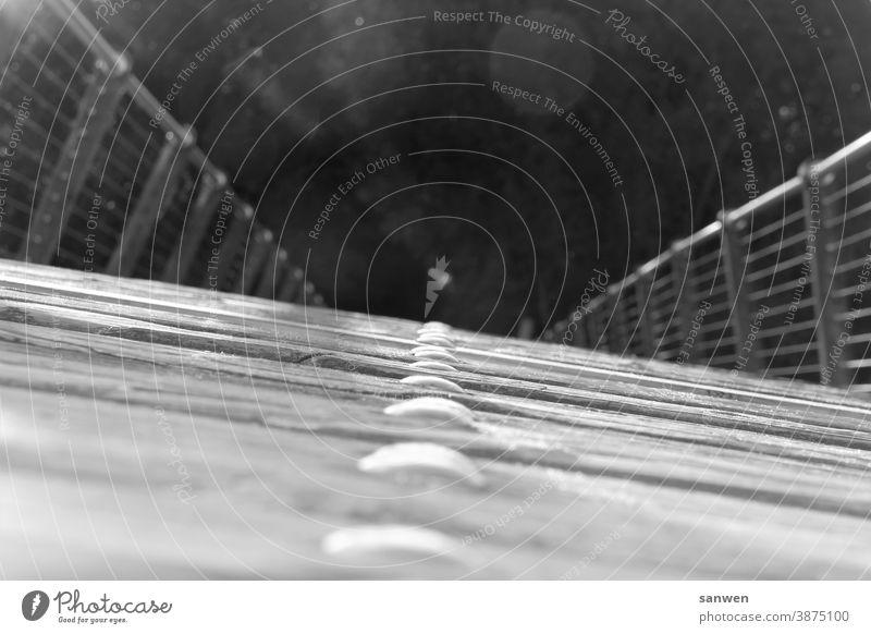 Brücke Wasser Architektur Holzbrücke Fluss Landschaft Geländer Weg