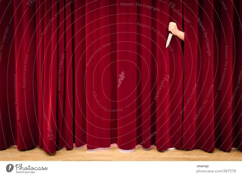 Krimi Entertainment Arme Hand Theaterschauspiel Bühne Schauspieler Kultur Medien Kino Vorhang Messer Zeichen Aggression außergewöhnlich gruselig rot Gefühle