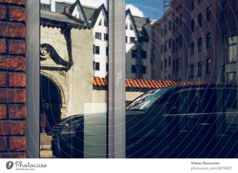 Abstrakter Hintergrund von Reflexionen in Riga Mode Design abstrakt geblümt Rahmen retro Borte Person Haus Muster altehrwürdig kaufen Sommer Textur Sonne Blatt