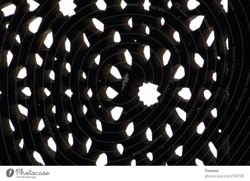Maurisches Fenster Alhambra Granada Palast Architektur Architetur