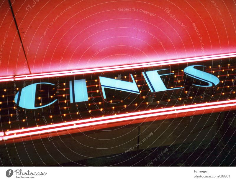 Cines Filmindustrie Freizeit & Hobby Kino Leuchtreklame
