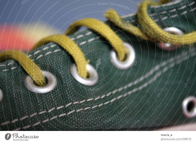 Chuck Schuhe Chucks Naht Schuhbänder gelb grün weiß Unschärfe Dinge All Star silber durchgelaufen trendy