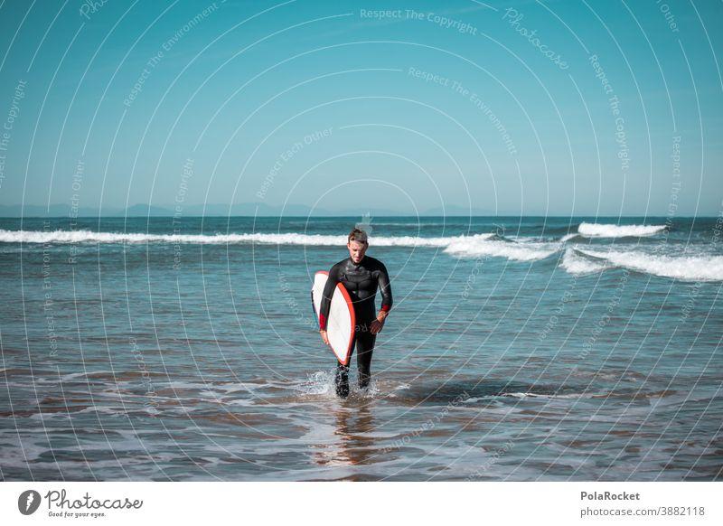 #A0# SurferParadies Surfen Surfbrett Surfschule Surf-Wellen Surfer, die ins Meer gehen Surfers Paradise Strand Sport Wassersport Extremsport Idylle Ruhe