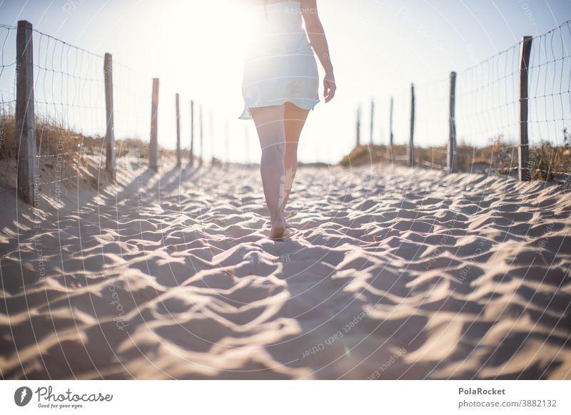 #A0# Weg zum Strand Freiheit barfuß laufen Barfußstrand erkundend Wege & Pfade Urlaub Küste Strandleben Urlaubsstimmung Urlaubsort Erholung