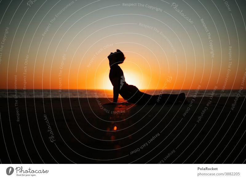 #A0# Yoga-Energie am Meer Yogastellung yogaübung Yogalehrer Strand Küste Urlaub Urlaubsstimmung Urlaubsfoto Urlaubsort Ferien & Urlaub & Reisen Außenaufnahme