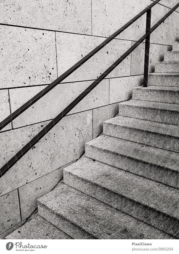 Treppenaufgang Treppengeländer Architektur Geländer Menschenleer Gebäude Treppenabsatz Abstieg aufsteigen Wand abwärts