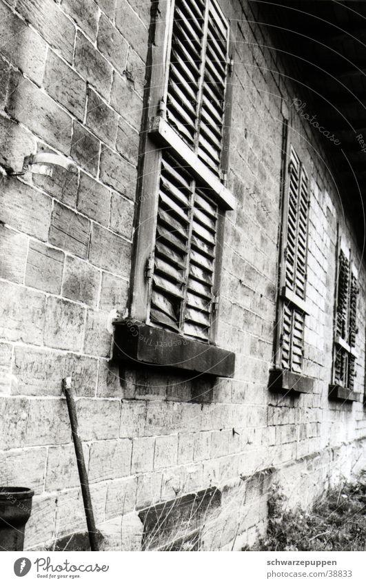 Wand alt Haus Fenster Gebäude Architektur Stab