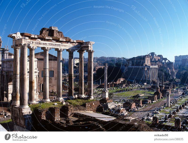 Rom Ferien & Urlaub & Reisen grün Europa Himmel blau Stein Architektur
