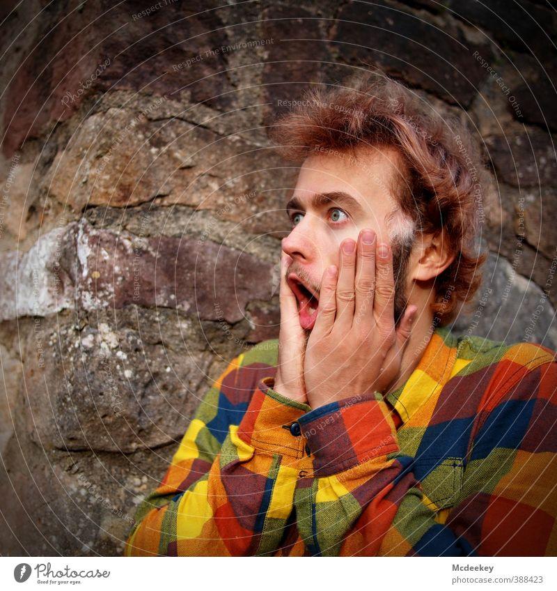 Oh My God Mensch maskulin Junger Mann Jugendliche Haut Kopf Haare & Frisuren Gesicht Auge Ohr Nase Mund Lippen Arme Hand 1 18-30 Jahre Erwachsene festhalten