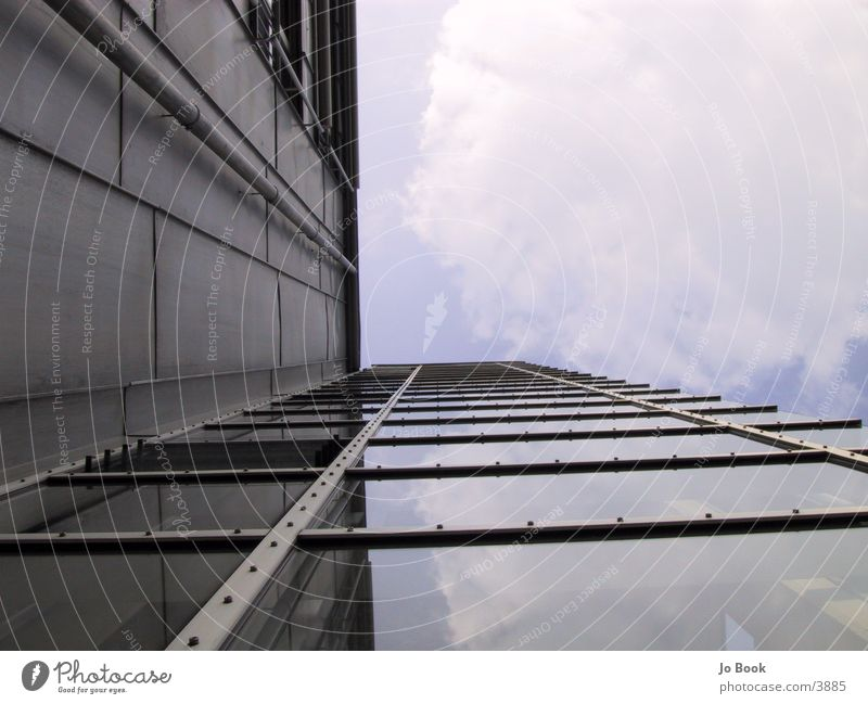 komische perspektive Himmel Fenster Glas Perspektive Konstruktion Blech