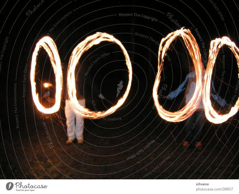 Licht Fototechnik Brand Mensch