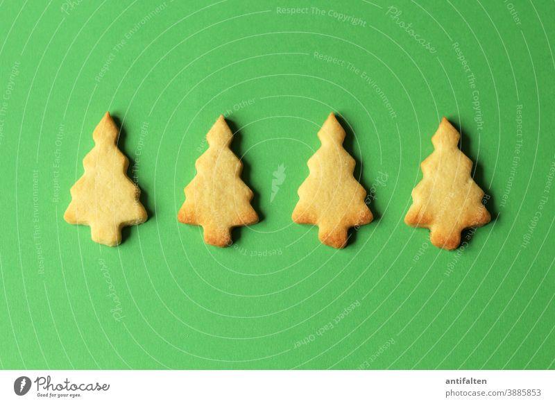 Oh Tannenbäume Kekse kekse backen Plätzchen Plätzchen ausstechen Weihnachten & Advent Backwaren Teigwaren Farbfoto Weihnachtsgebäck lecker Ernährung süß