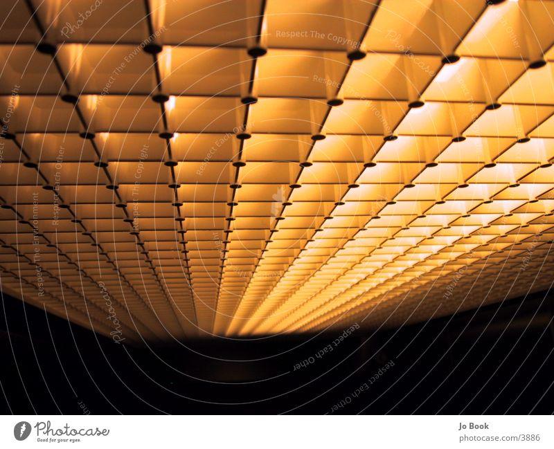 aufzugdecke Perspektive Fahrstuhl Decke Raster Rechteck Zwischenraum