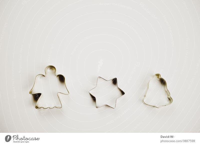 Austechformen - Weihnachten mit Engel , Stern und Glöckchen Weihnachten & Advent Weihnachtsdekoration Symbole Konzept Glocke Weihnachtsgebäck Ausstechform
