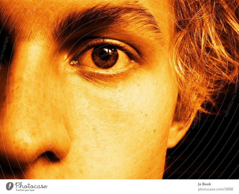 just the old part of me Mann alt Gesicht Auge dunkel Haare & Frisuren träumen blond Nase leer Teile u. Stücke Wange Hälfte Augenbraue