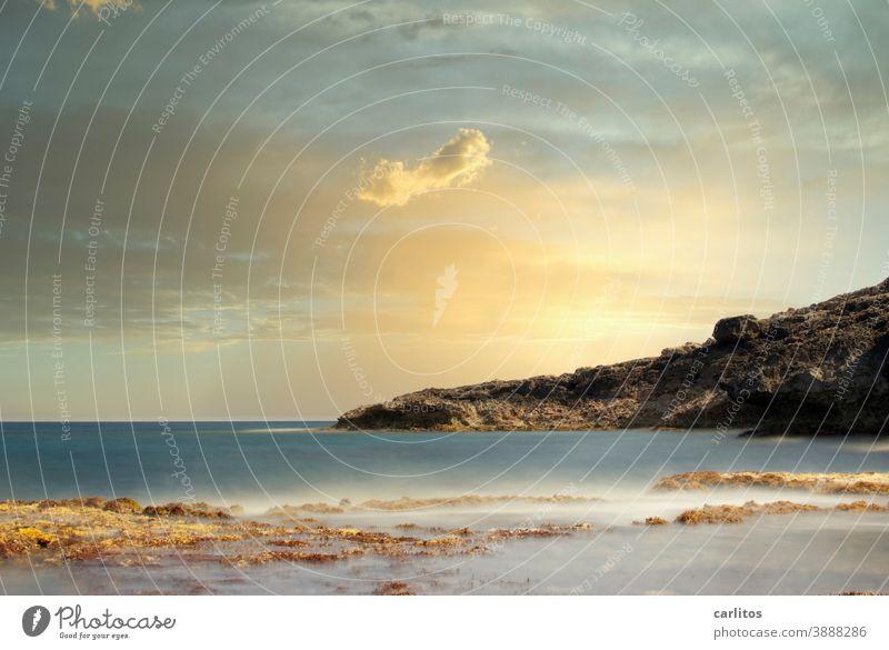 Cala Murada | Die Zeit steht Mallorca Strand Bucht Wasser Meer Langzeitbelichtung Felsen Küste Landschaft Himmel Menschenleer Ferien & Urlaub & Reisen Sommer