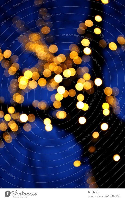 Baumfunkeln Weihnachten & Advent Feste & Feiern Lichterkette Weihnachtsmarkt Zweige u. Äste Ast Weihnachtsdekoration Weihnachtsbeleuchtung Romantik Stimmung