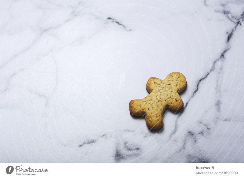 Hausgemachte Zimt-Schokolade-Lebkuchen-Plätzchen selbstgemacht Lebensmittel Biskuit Keks traditionell Feiertag Dessert Hintergrund Weihnachten gebacken süß