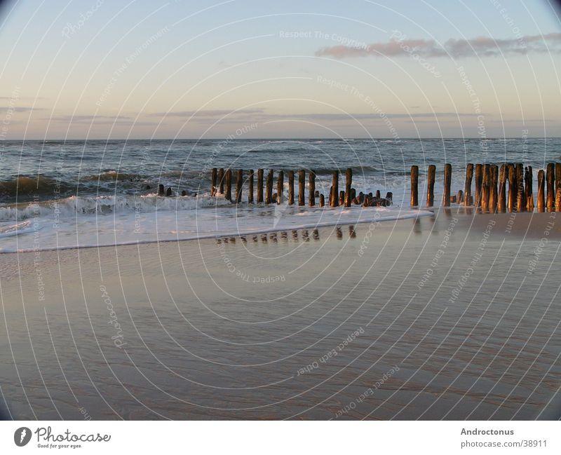 Watt ein Abend Meer Sylt Wattenmeer Buhne Nordsee